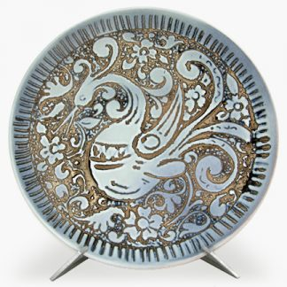 Hand-Painted Round Platters