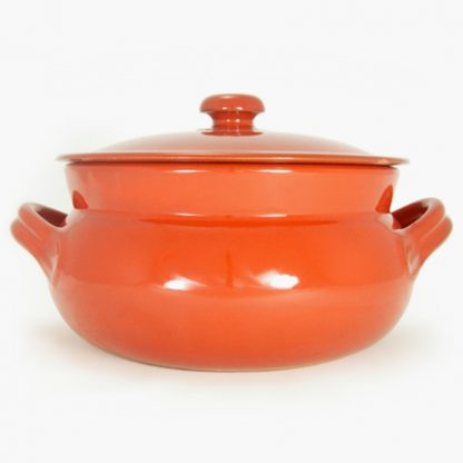 Vulcania 5 quart Bean Pot - Round Covered Casserole - Red