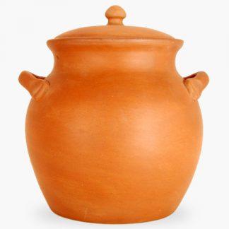 Bram 2½ quart Bean Pot - Terra Cotta with Assalie Brown Inside