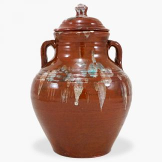 Bram 2¼ quart Bean Pot - Drip Glaze