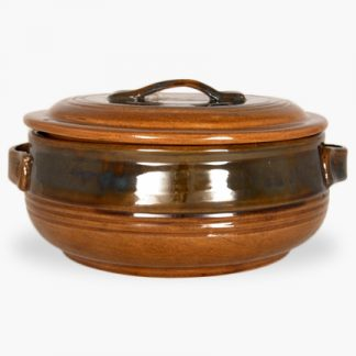 Bram 3½ quart Round Covered Casserole - Honey Assalie