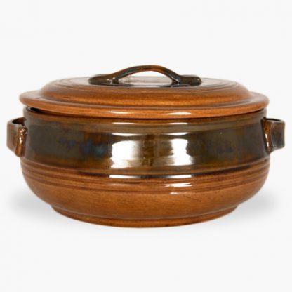 Bram 3½ quart Round Covered Casserole - Honey Assalie