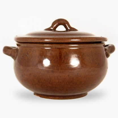 Bram 2 quart Round Covered Casserole - Assalie Brown