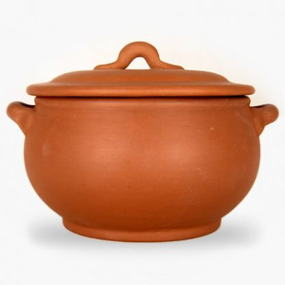 Covered Casserole - Terra Cotta with Assalie Brown Glaze inside