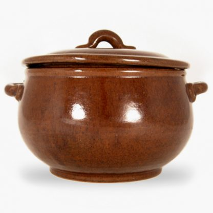 Bram 4 quart Round Covered Casserole - Assalie Brown