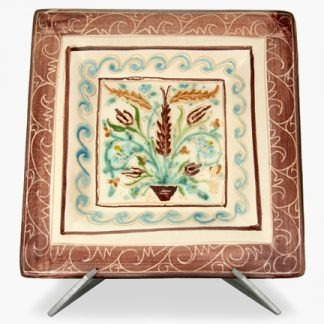 Hand-Painted Square Platters