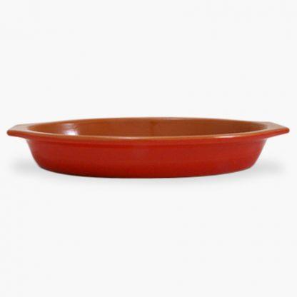 "Vulcania 15½"" x 10"" Oval Baker - Red"