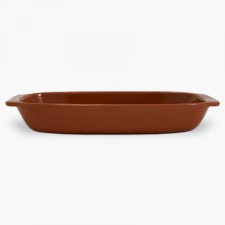 "Vulcania 13½"" x 7"" Rectangular Baker - Terra Cotta Brown"