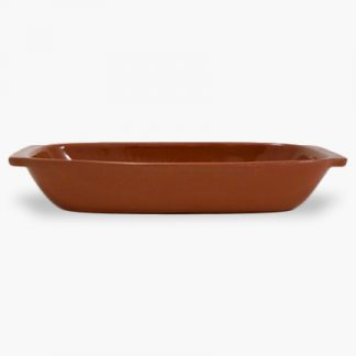 "Vulcania 15"" x 8"" Rectangular Baker - Terra Cotta Brown"