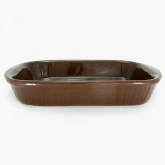 "Bram 11½"" x 8"" Rectangular Baker - Semisweet Brown"