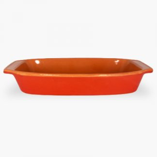 "Vulcania 15¾"" x 9¼"" Rectangular Baker - Red"