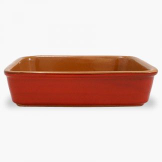 "Vulcania 9½"" x 9½"" Square Baker - Red"