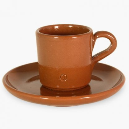 Espresso Cup and Saucer - Spanish Terra Cotta