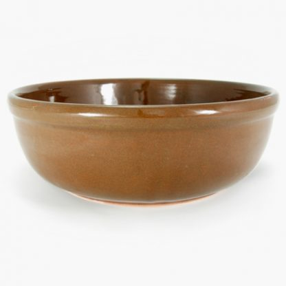 "Bram Serving Bowl, 10½"" - Mocha Brown"