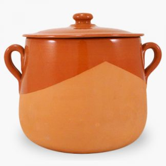 Vulcania 7½ quart Soup/Stew Pot - Half-Glazed Terra Cotta