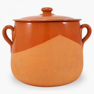 Vulcania 7½ quart Soup/Stew Pot - Half-Glazed Terra Cotta