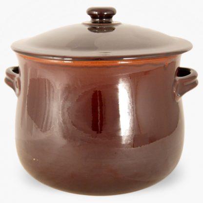 Vulcania 10 quart Soup/Stew Pot - Brown