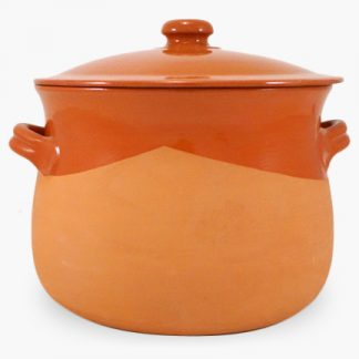 Vulcania 10 quart Soup/Stew Pot - Half-Glazed Terra Cotta