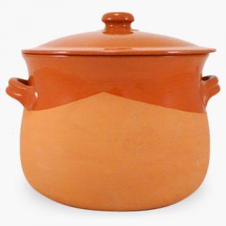 Vulcania 10 quart Soup/Stew Pot - Half-Glazed Terra Cotta