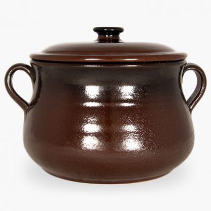 Bram 3½ quart Soup/Stew Pot - Brown with Black Accents
