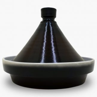 Bram 1¾ quart Tagine - Dark Brown and Black
