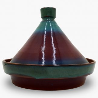 Bram 1¾ quart Tagine - Burgundy and Turquoise