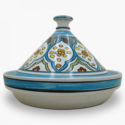 Bram 5 quart Hand-painted Tagine - Multi-color Moroccan Design
