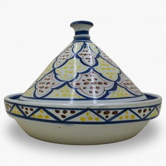 Bram 5 quart Hand-painted Tagine - Multi-color Moroccan Design