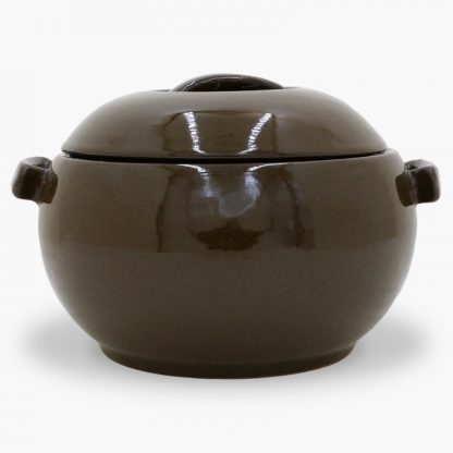 Bram 1½ quart Bean Pot - Round Covered Casserole, Mocha Brown