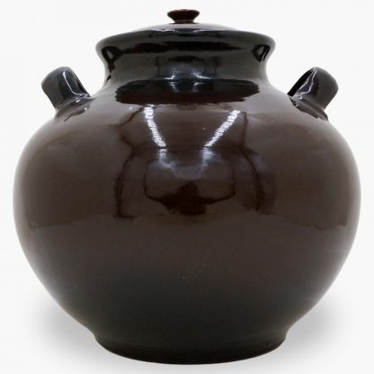Bram 17 quart Bean Pot, Dark Brown & Black