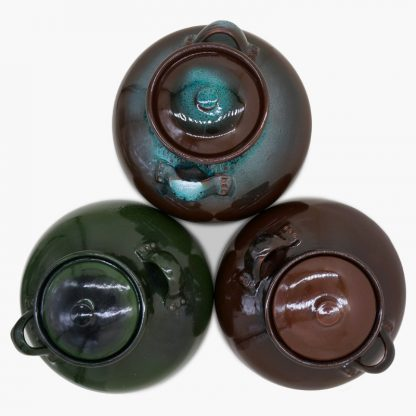 Bram 17 quart Bean Pot, Top View, shown in three colors