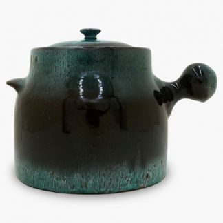 Bram Bean Pot - Soup/Stew Pot, 4½ qt. – Dark Brown & Turquoise