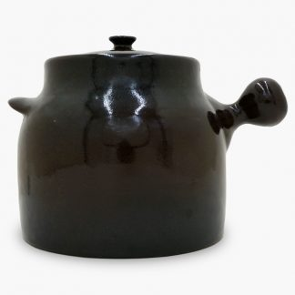 Bram Bean Pot - Soup/Stew Pot, 4½ qt. – Dark Brown & Black