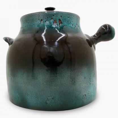 Bram Bean Pot - Soup/Stew Pot, 16 qt. – Dark Brown & Turquoise
