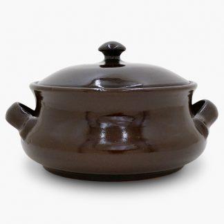 Bram Bean Pot - Soup/Stew Pot, 4 qt. – Dark Assalie Brown